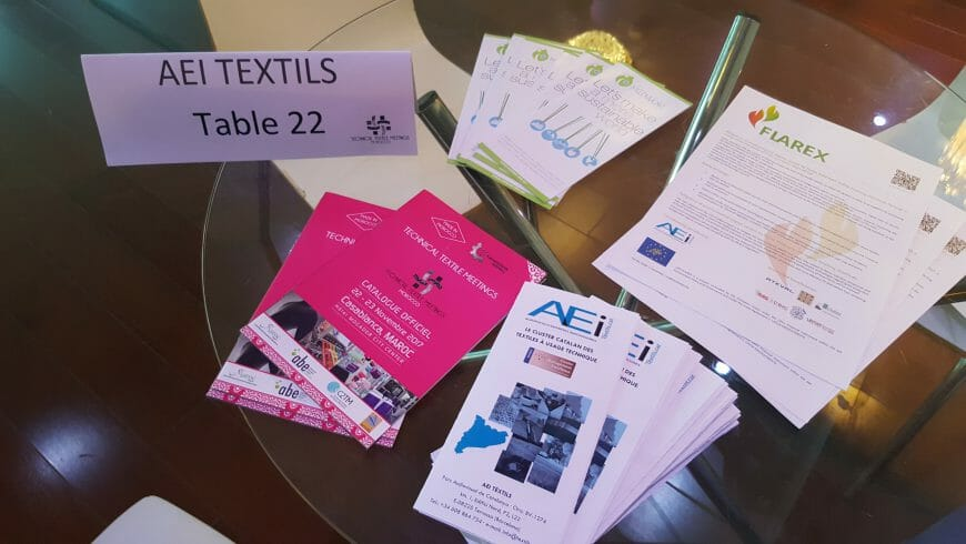 LIFE-FLAREX project was present at the first edition of the Technical Textile Meetings Morocco