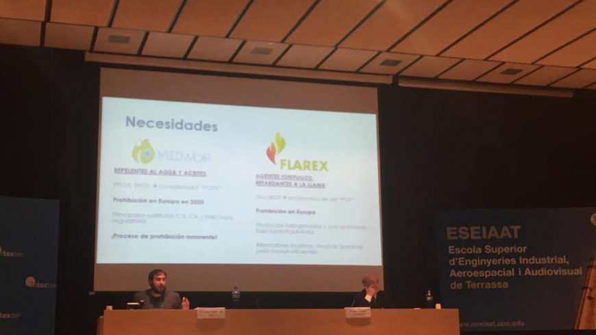 LIFE-FLAREX presented in Terrassa in the framework of Textile Industry and Sustainability session