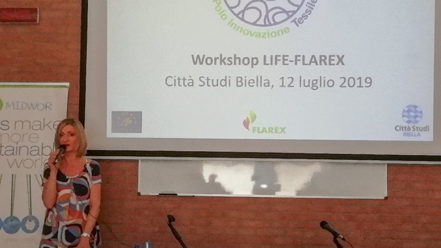 LIFE-FLAREX WORKSHOP AT CITTÀ STUDI BIELLA:  15 COMPANIES AT THE WORKSHOP