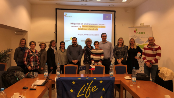 LIFE-FLAREX meets in Prague to assess safer flame retardants for the textile industry
