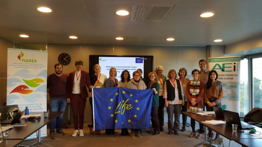 The European Commission visits the LIFE-FLAREX project in Terrassa