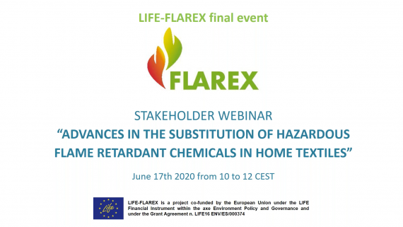 LIFE-FLAREX final event brings together companies and organizations to discuss on alternative flame retardants